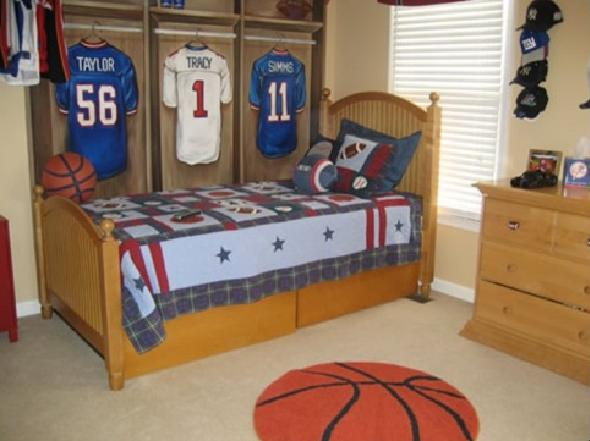 Nice Baseball Bedroom Design