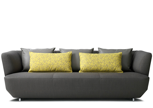 Sofa exceptionally comfortable by Leolux-gray