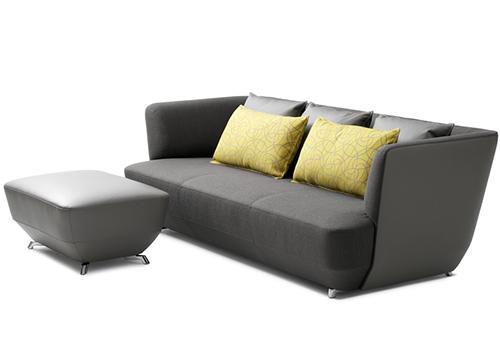 Sofa exceptionally comfortable by Leolux-ottoman