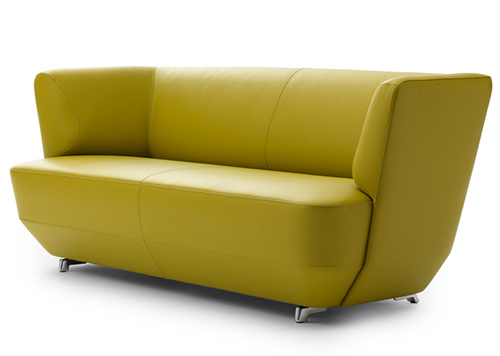 Sofa exceptionally comfortable by Leolux-yellow