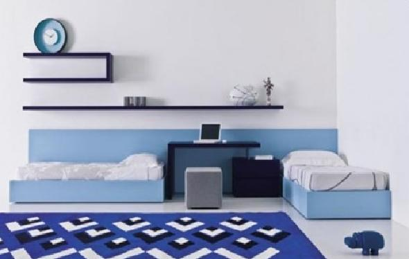 Stylish blue Teenage Boy Bedroom Design