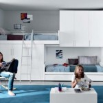 blue white Contemporary Teenagers Room