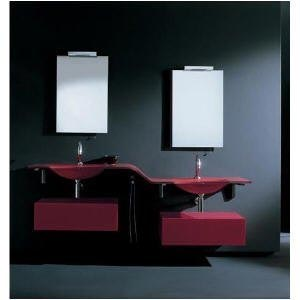 contemporary-Vanity-Set-Chic-Burgundy-Wave-Bathroom