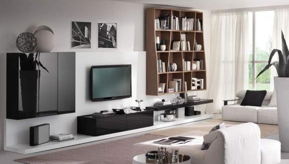 Attractive Black And White Living Room Design