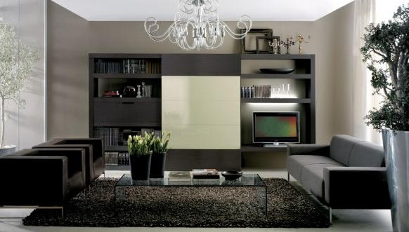 Attractive Black And White LivingRoom Designs