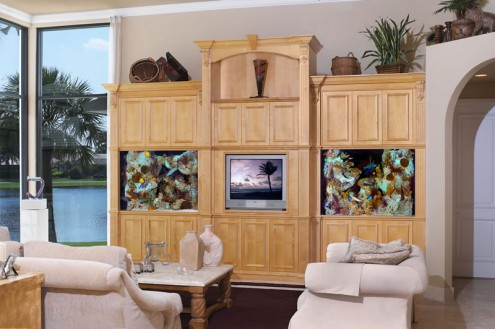 Beautiful Aquarium Design For Tv Unit In Living Room