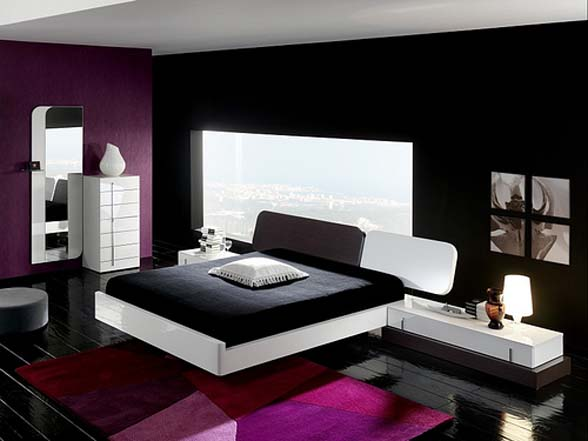 Black And White Bedroom Designs And Room Interiors Image : Pictures ...