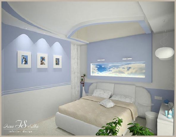 Calm Purple Bedroom Design by Irina Silka