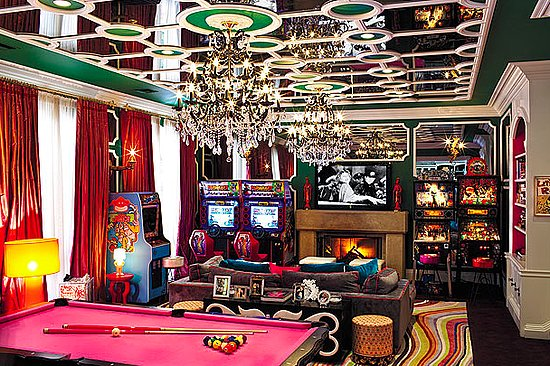 Christina Aguilera Beverly Hills Home in 513 Doheny Rd, Beverly Hills, CA 90210 Games room