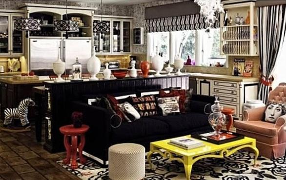 Christina Aguilera Beverly Hills Home in 513 Doheny Rd, Beverly Hills, CA 90210-Kitchen
