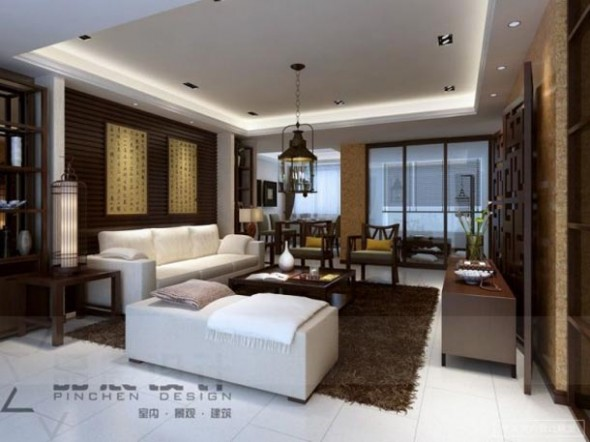 Contemporary Living Room Design Ideas from Chainese