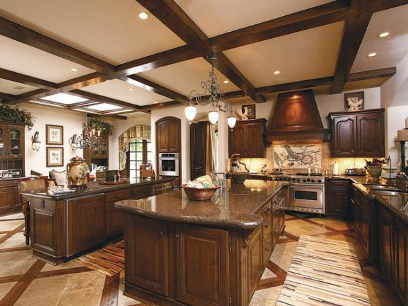 Exhuberant house and dream palace in California-Kitchen