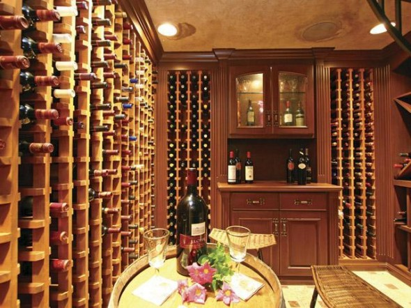 Exhuberant house and dream palace in California-wine room