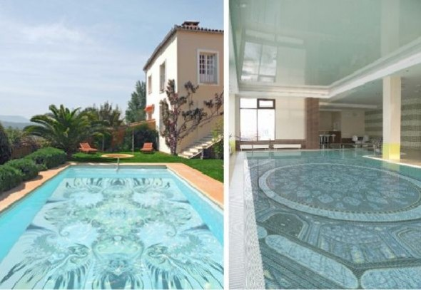 Fascinating Swimming Pool Design with Mosaic Glass Tiles by Glassdecor (4)