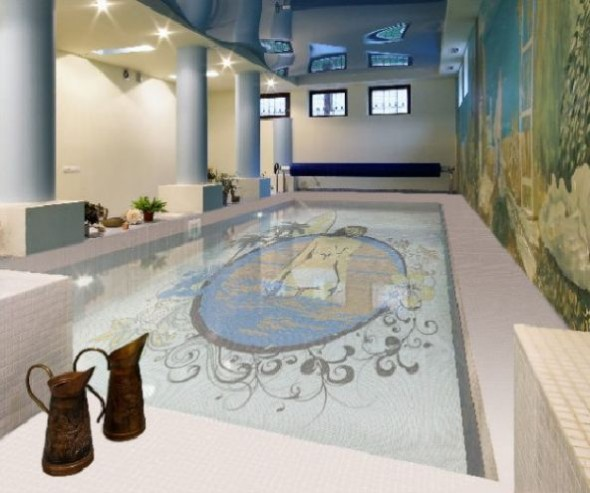 Fascinating Swimming Pool Design with Mosaic Glass Tiles by Glassdecor (6)
