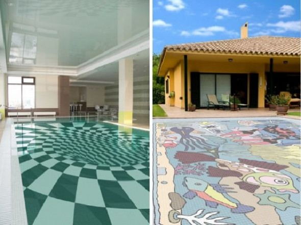 Fascinating Swimming Pool Design with Mosaic Glass Tiles by Glassdecor (7)