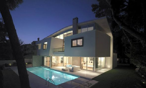 Fascinating White Modern In Ekali View