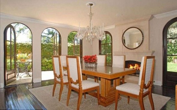 Fine dining The dining room features a blazing log fire and lots of light-Kim Kardashian's
