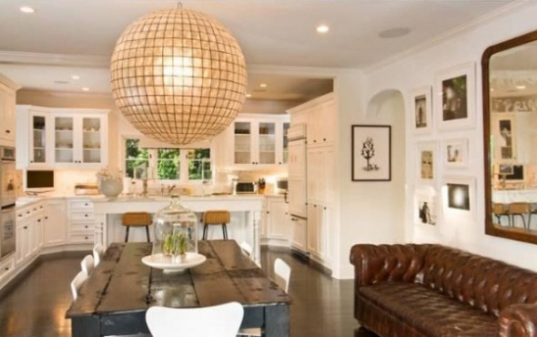 Katy Perry and Russell Brand List L.A Home-Dinning Room