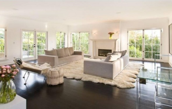 Katy Perry and Russell Brand List L.A Home-Living Room
