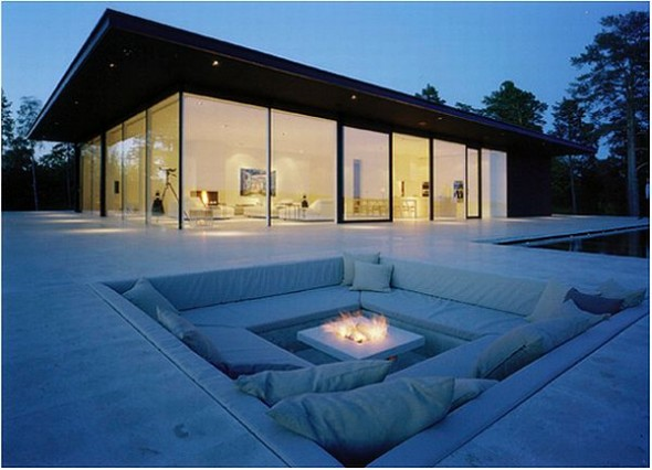 Lavish And Luxurious Swedish Villa Of Hollywood Actor James Bond beautiful-outdoor-couch-area-canle-light