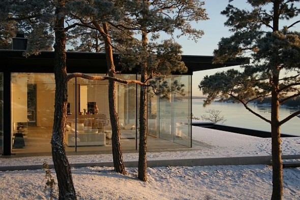 Lavish And Luxurious Swedish Villa Of Hollywood Actor James Bond glass-house-celebrity-home