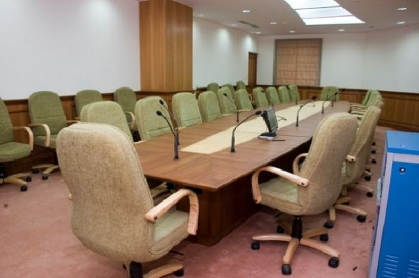 Meeting Office Room With Large Table