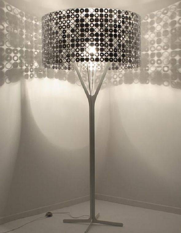 Modern Lamp Design by Lelabo, square panel