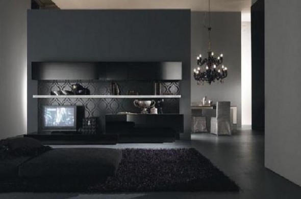 Modern Living Room with Chusion Pillow Presotto Italia