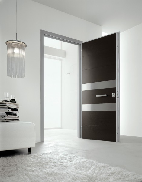 Modern white and Black Doors Exterior for Home Designed by Oikos