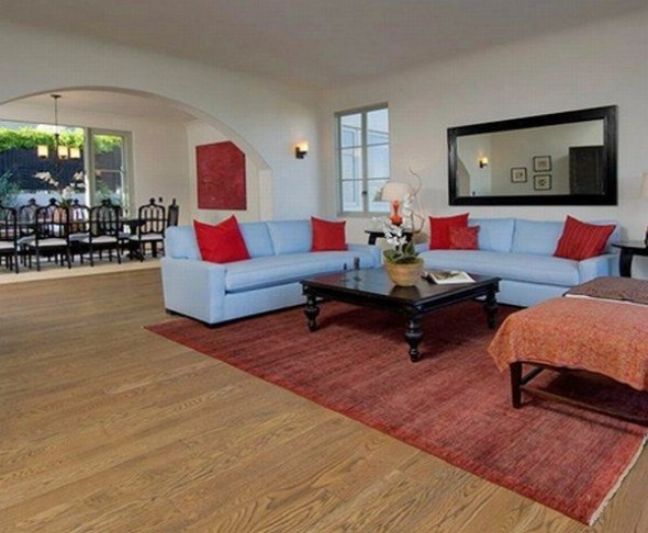 New home Megan Fox in Los Angeles-living room