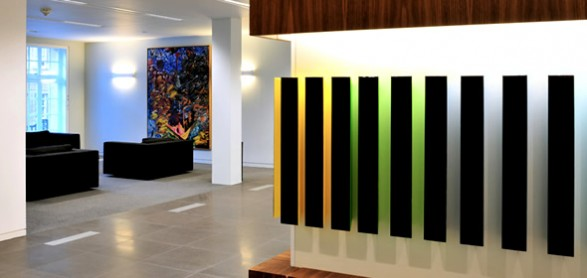 Office Interior Design Stenham Illuminated Wall