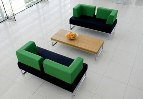 Office Reception Design Allermuir Furniture Pause Modular Seating