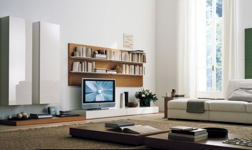 Regolo Stylish And Lavish Sleek Wall Unit
