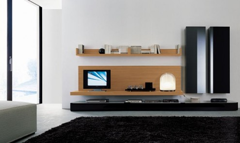 Regolo Stylish And Lavish Wooden Wall Unit
