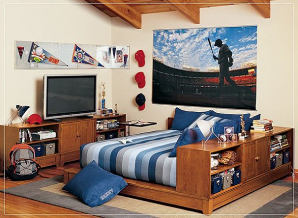 6 Teenage Boy Bedroom Blue Design