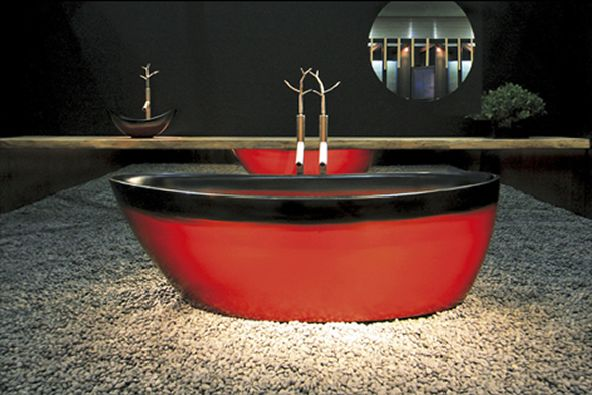 Urushi Lacquered Wood Bathroom designs