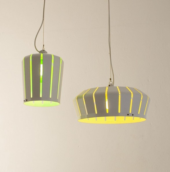 amazing green and yellow crown pendant lamp