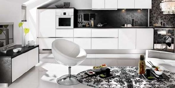 best modern black white kitchen designs