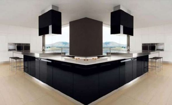 black and white kitchen cabinets design ideas