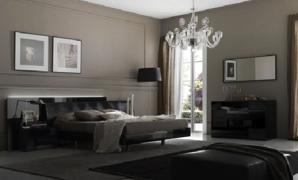 contemporary black and white bedroom design from evinco