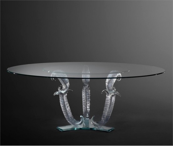 glass top dining table with original base design8