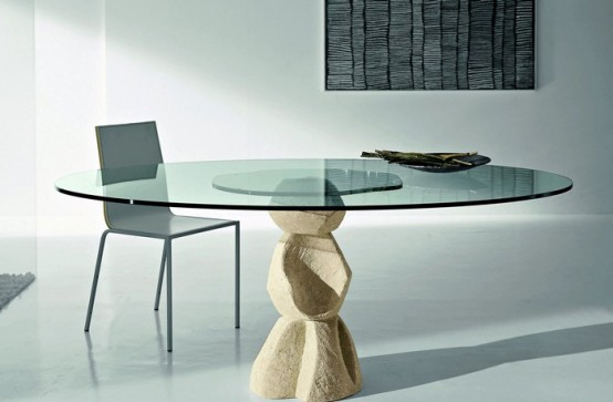 glass top dining table with original base design7