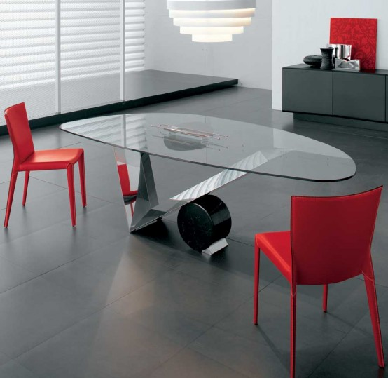 glass top dining table with original base design4