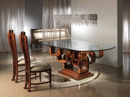 glass top dining table with original base design2