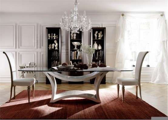 glass top dining table with original base design19