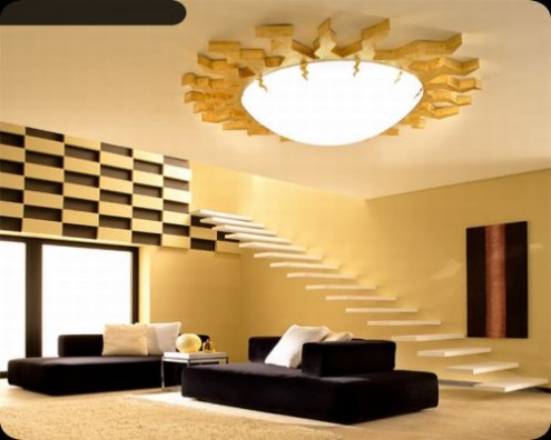 interior design with ambient lighting