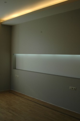 interior design with concealed lighting