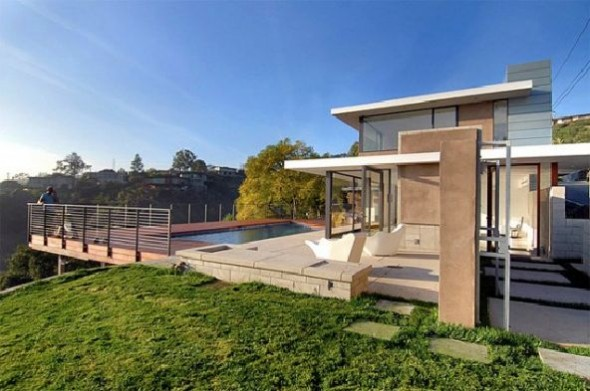 lavish california contemporary home outdoor swimming pool