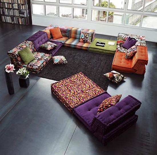 living room colorful furniture inteior